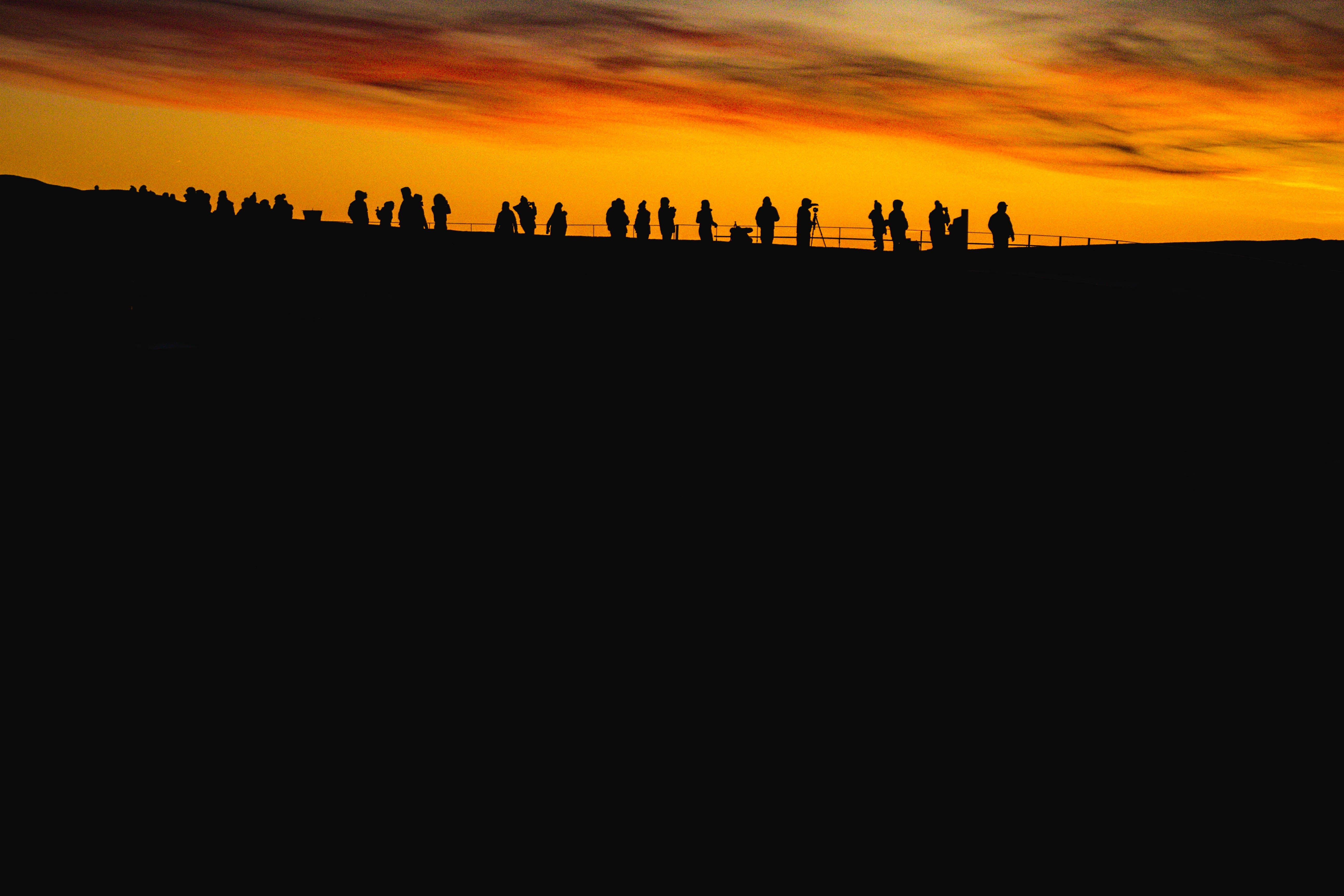 Free stock photo of iceland, silhouette, skyline