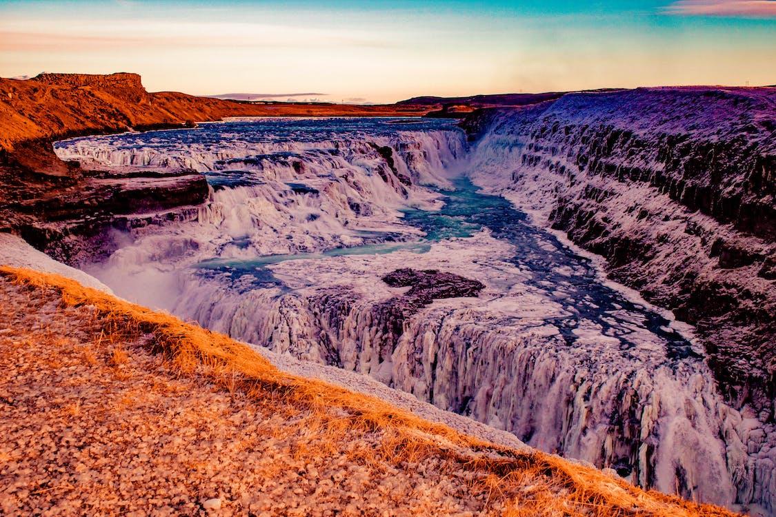 Waterfalls Beside Mountain