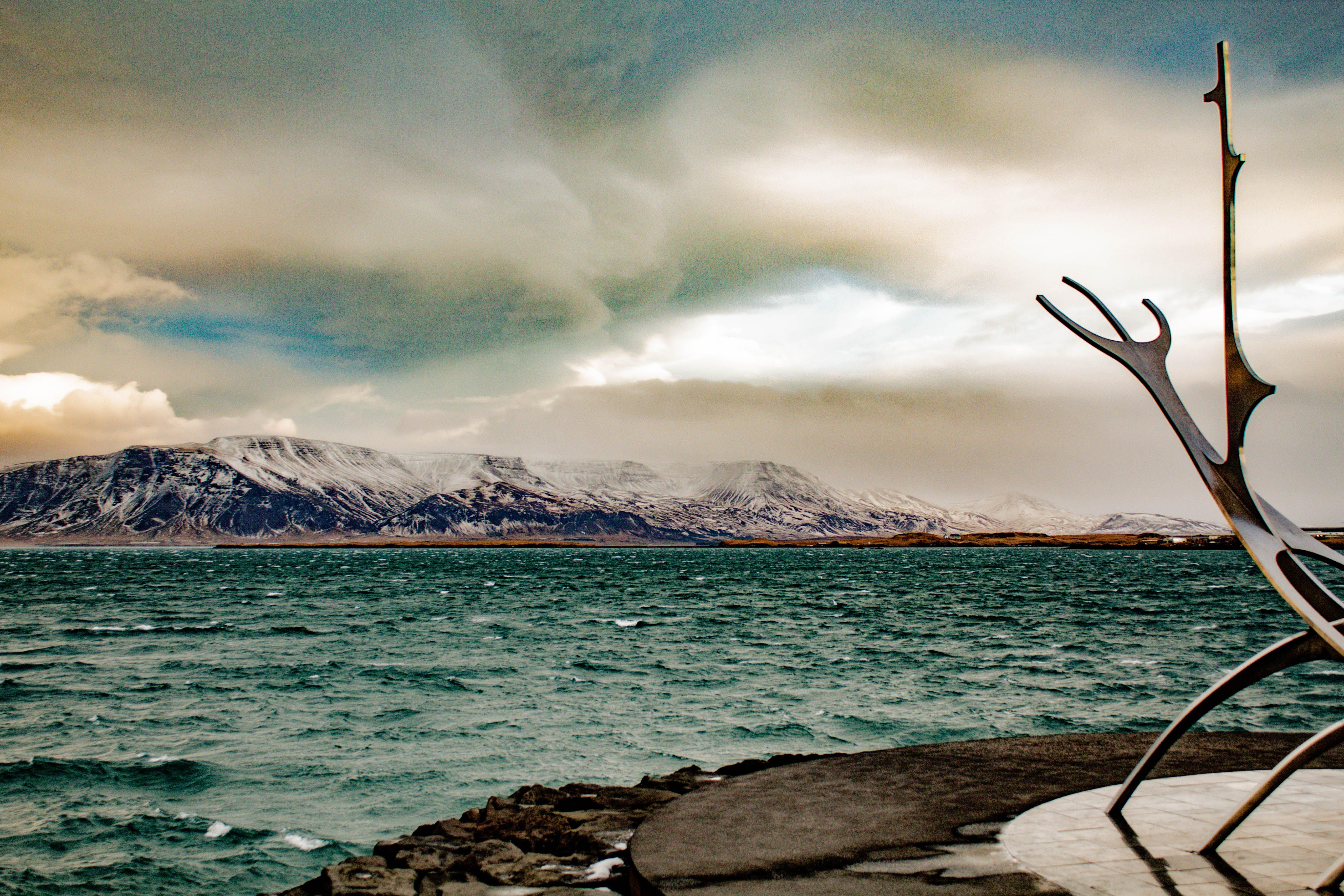 Kostenloses Stock Foto zu abend, dämmerung, himmel, island