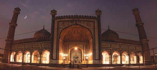 Free stock photo of delhi, india, jamamasjid, moon
