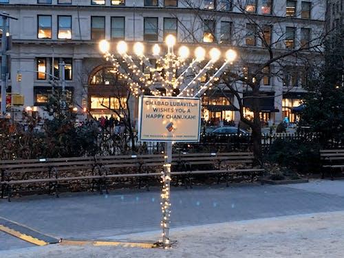 Kostenloses Stock Foto zu hanukkah, madison square park, menora