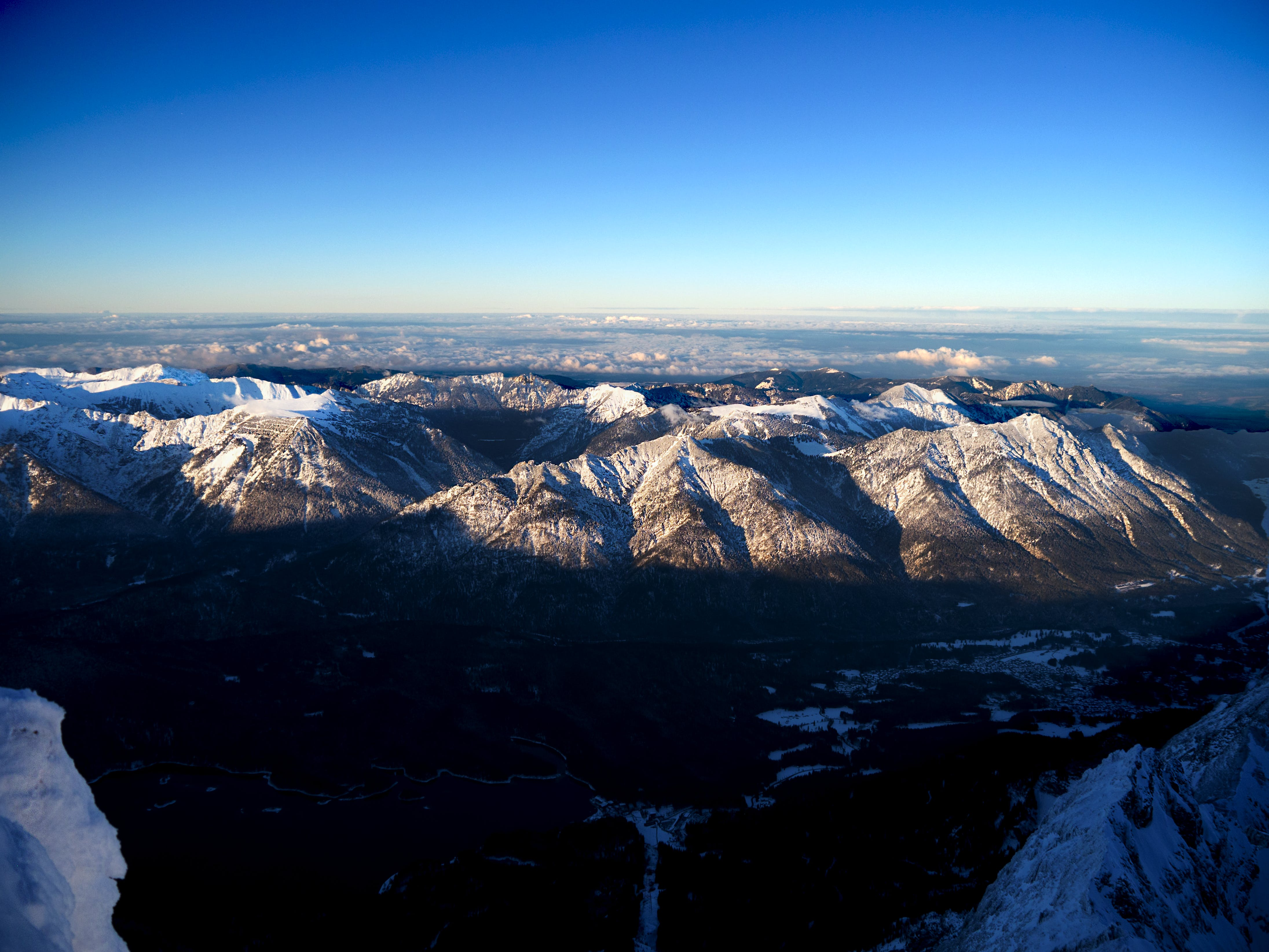 Aerial Photo of Snow Capped Mountains