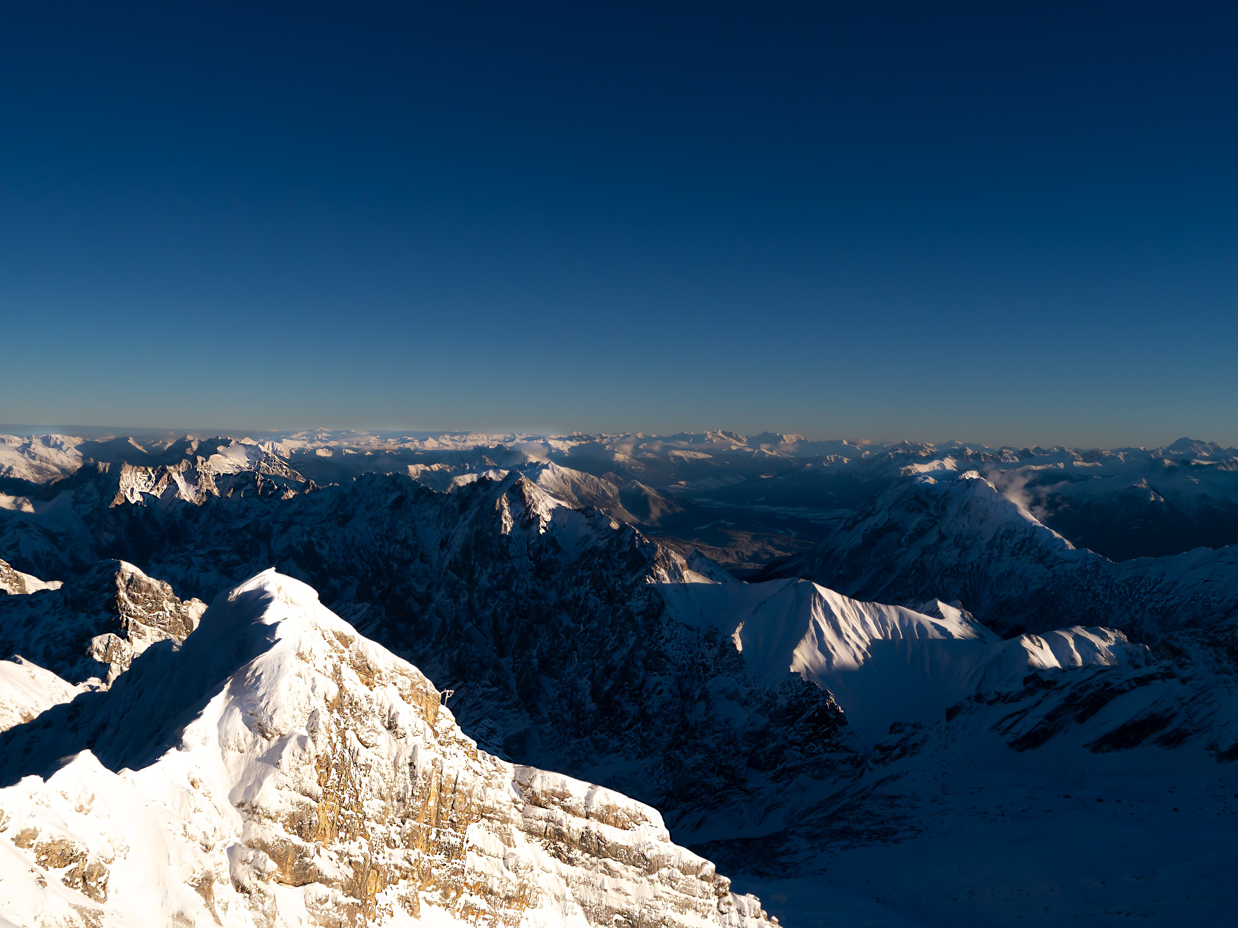 Aerial Photography of Snow Capped Mountains