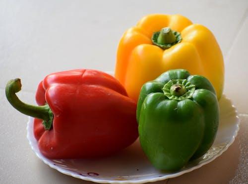 Free stock photo of capsicum, capsicums, color