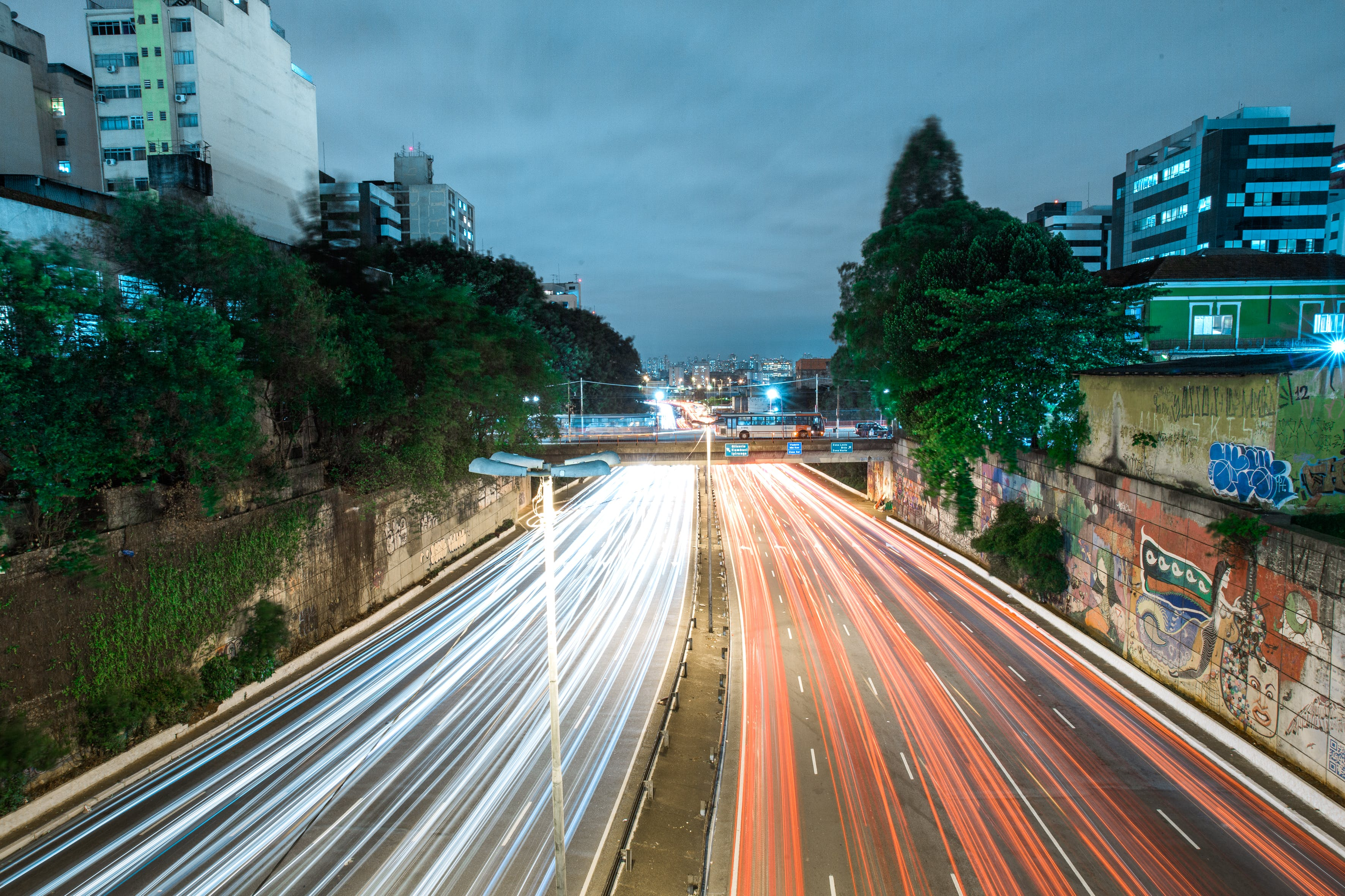 Time Lapse Photography of Road With Car Lights