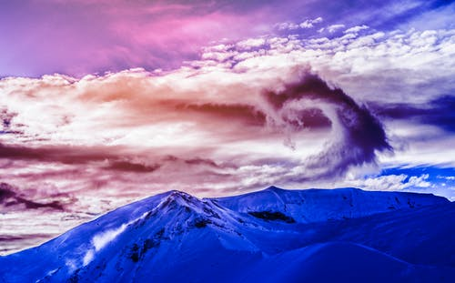 Free stock photo of cloud, cloudscape, mountain, spiral