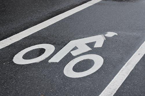 Free stock photo of art, bike lane, sign, street