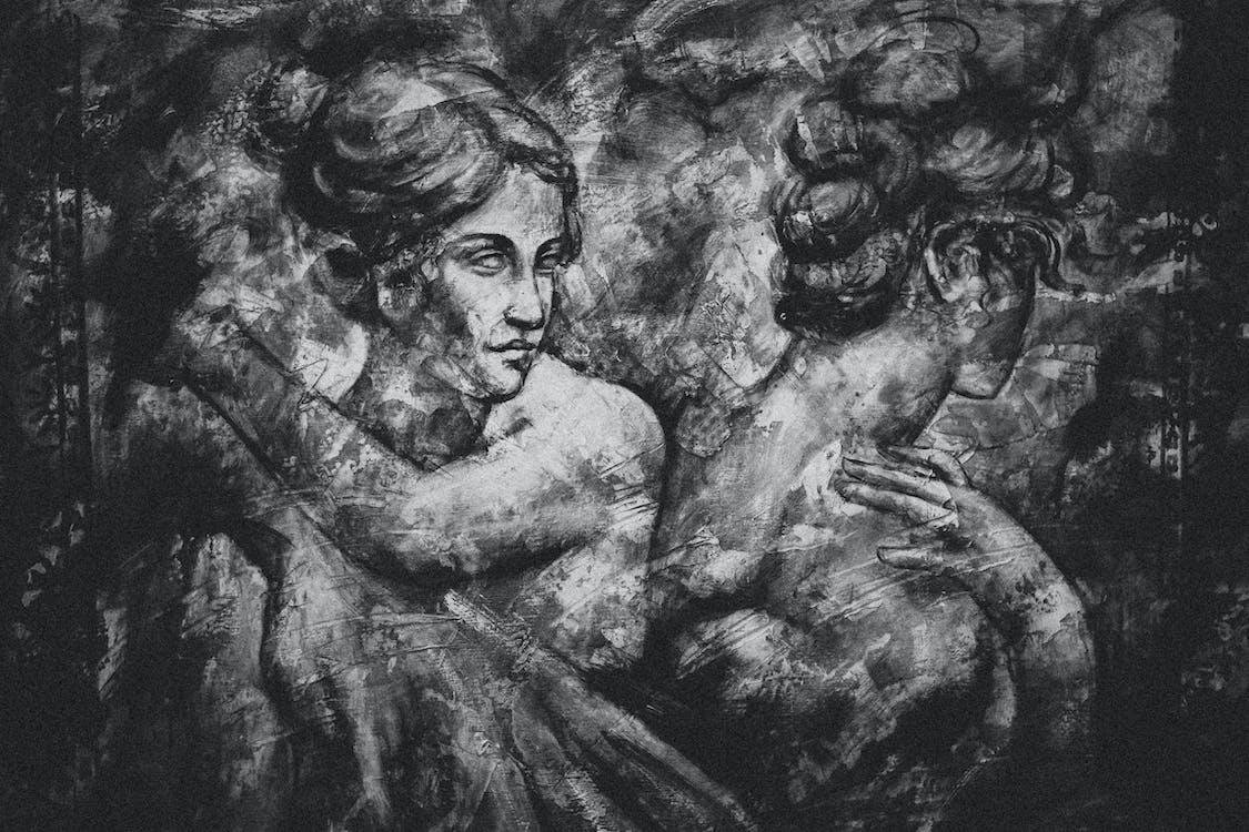 art, artistique, noir et blanc