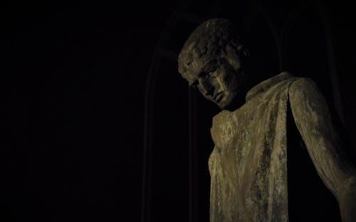ダーク, 像, 夜, 彫像の無料の写真素材