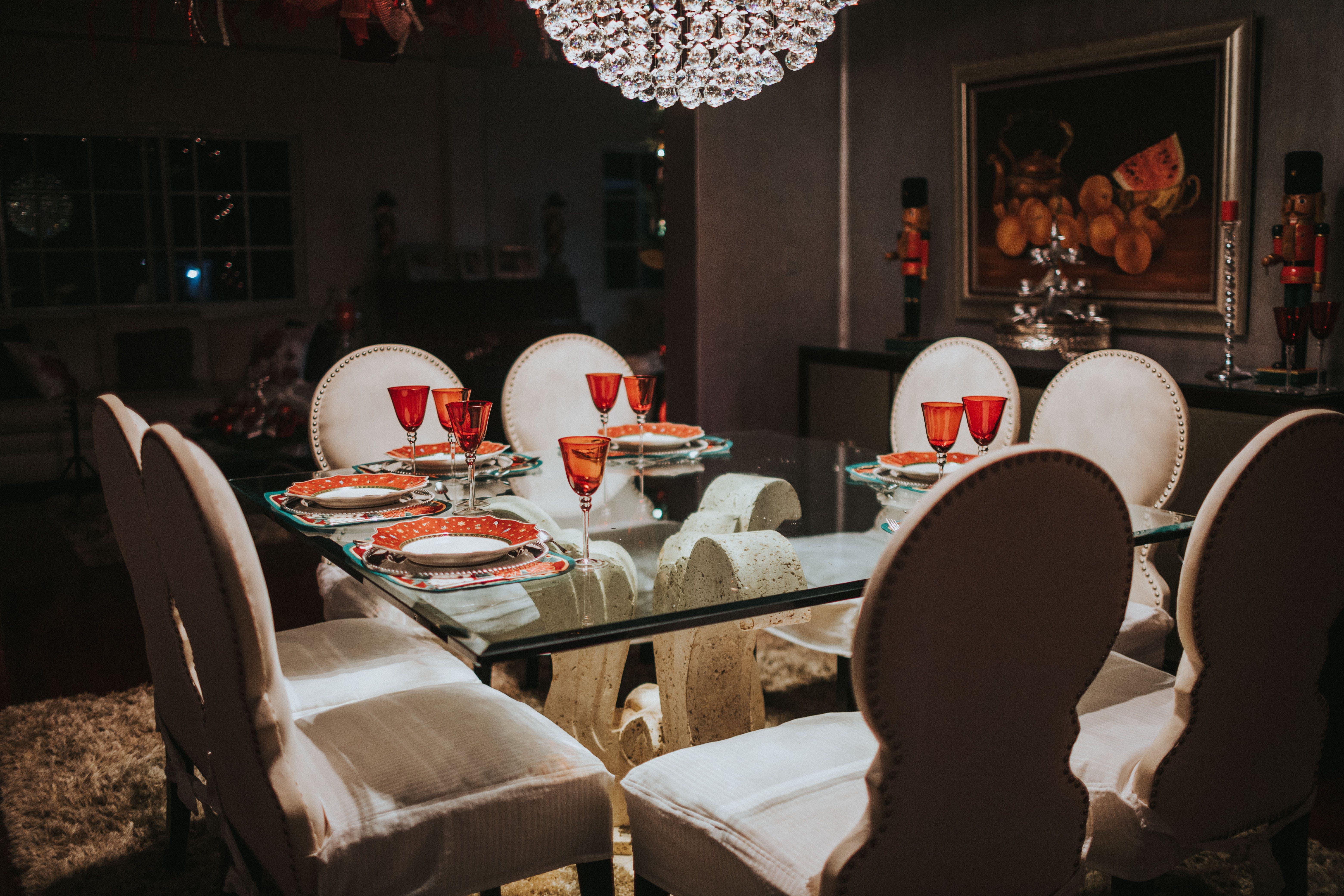 Fotos de stock gratuitas de adentro, comedor, cristal, diseño de interiores