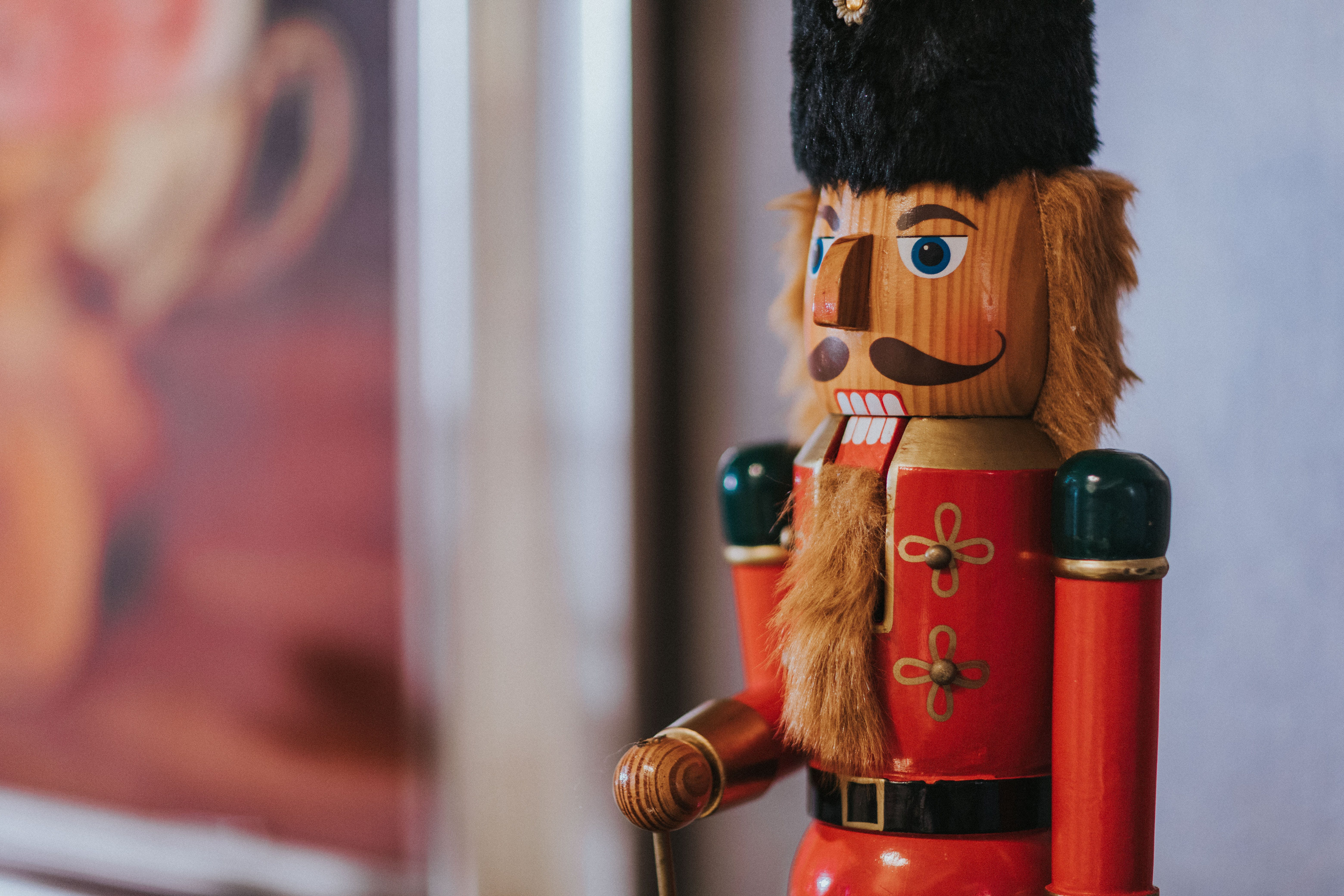 Shallow Focus Photography of Wooden Nutcracker