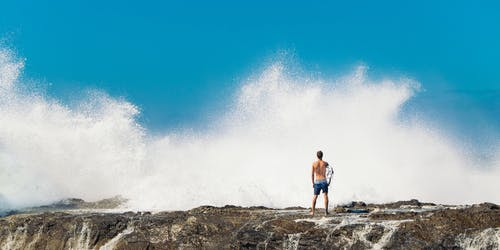 Kostenloses Stock Foto zu abenteuer, goldküste, ozean, person