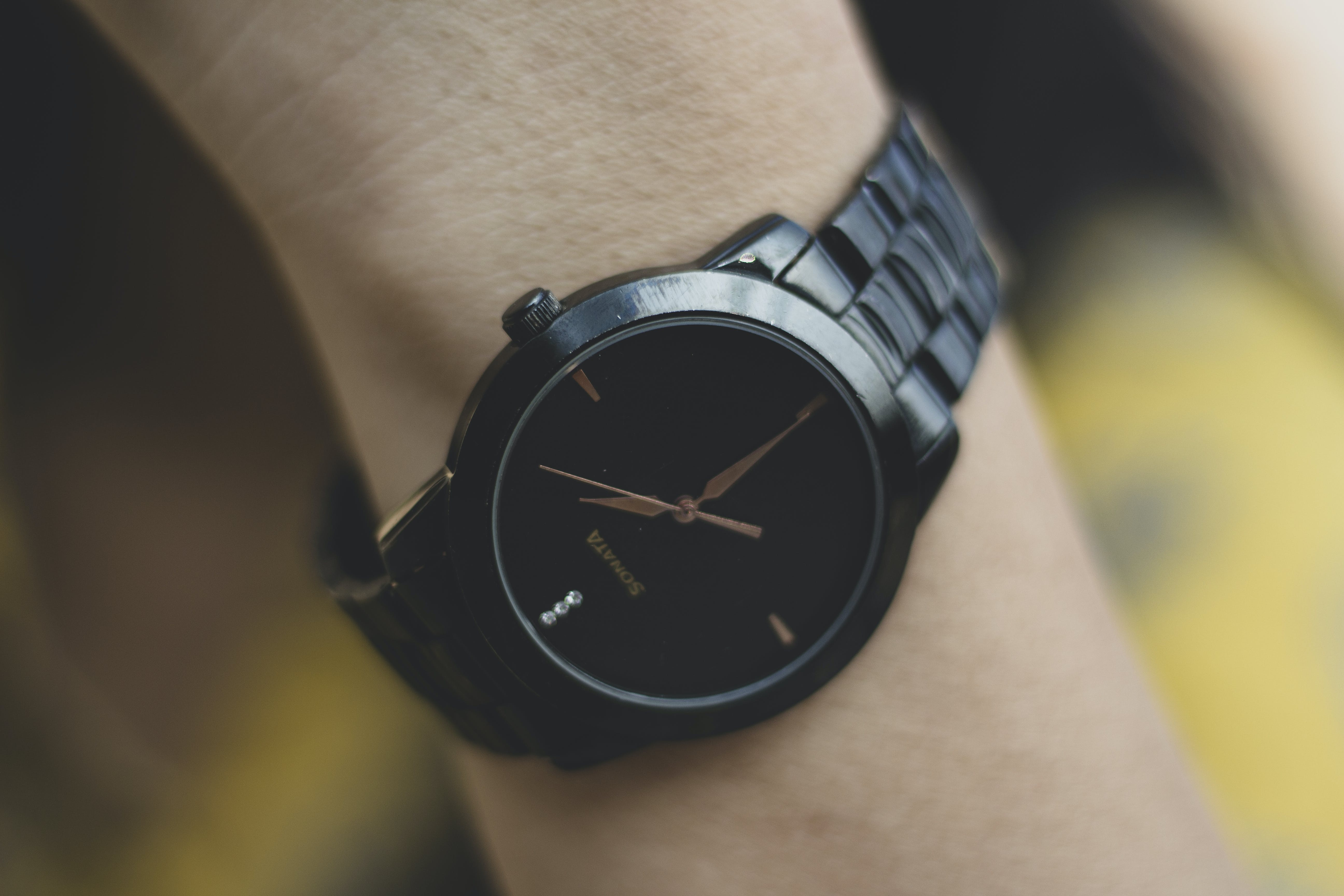 Selective Focus Photo of Black Watch