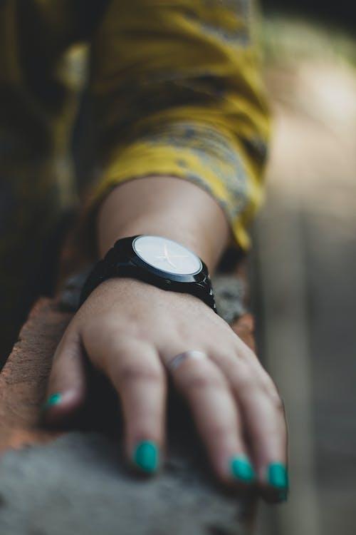 Person Wearing Wristwatch