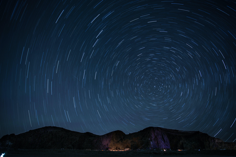 Kostenloses Stock Foto zu landschaft, himmel, nacht, dunkel