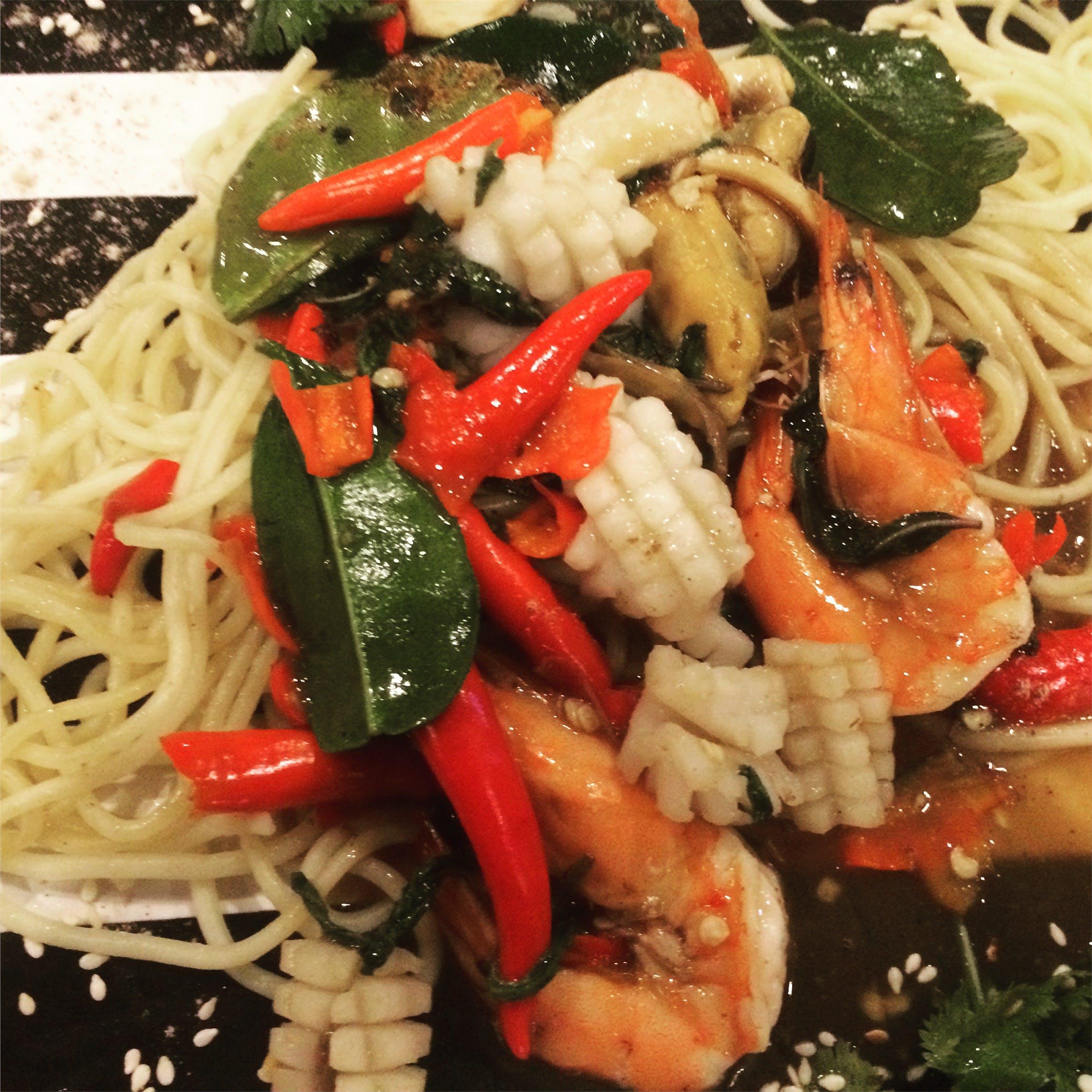 Free stock photo of food, sea food, spaghetti, thailand