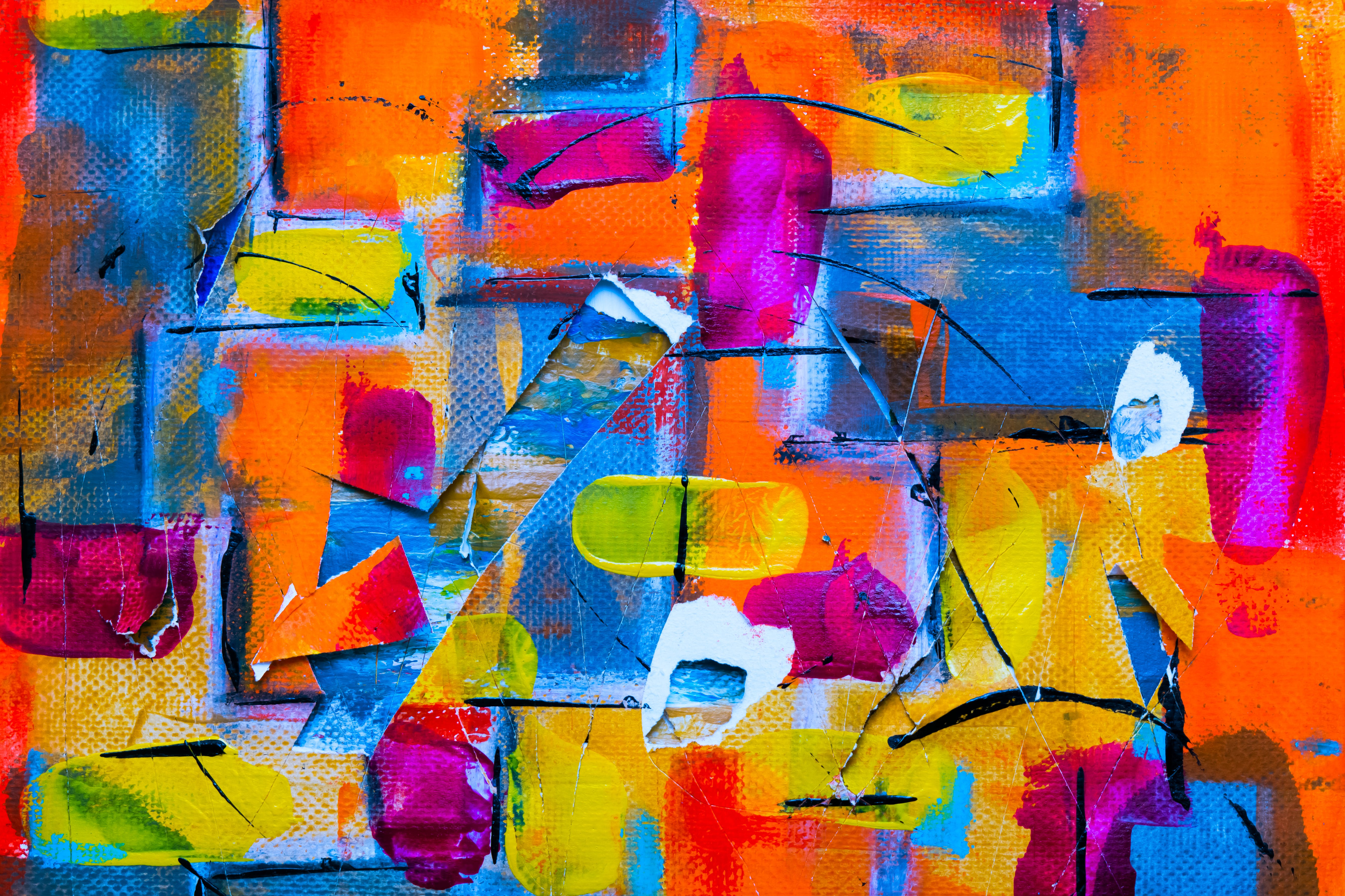 Color Splatter Painting