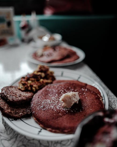 Selective Focus Pancake on Plate