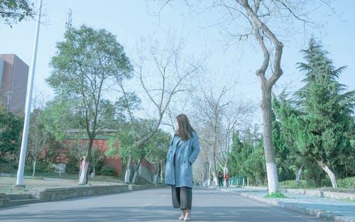 Gratis stockfoto met Aziatische vrouw, bomen, daglicht, houding