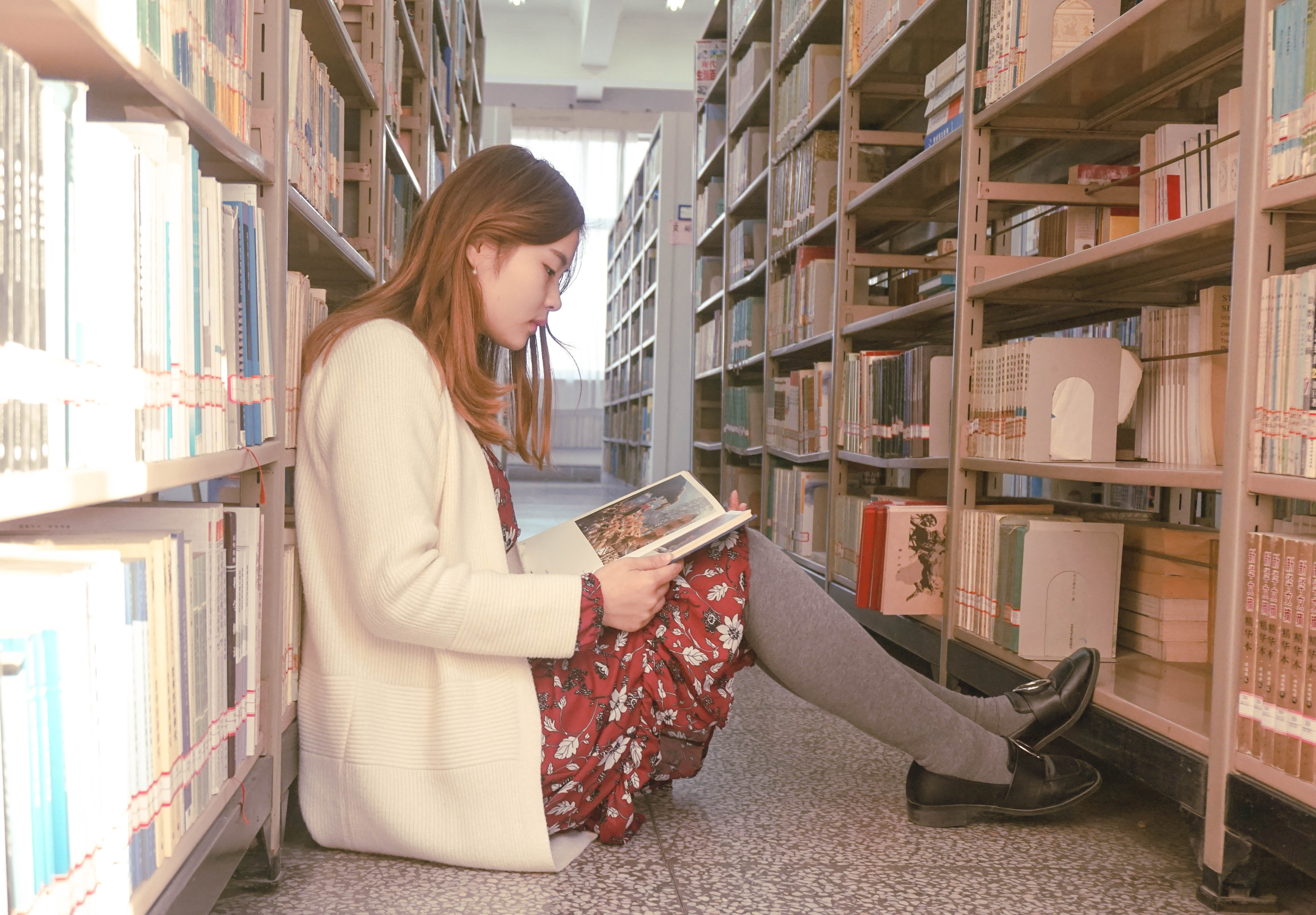 Photo of a Woman Reading Book
