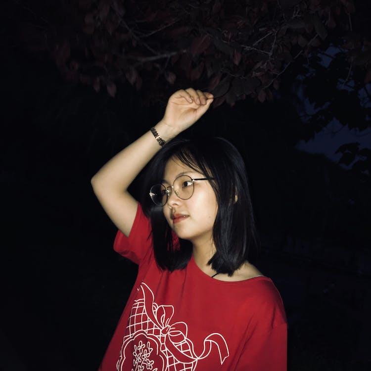 aantrekkelijk mooi, avond, Aziatische persoon