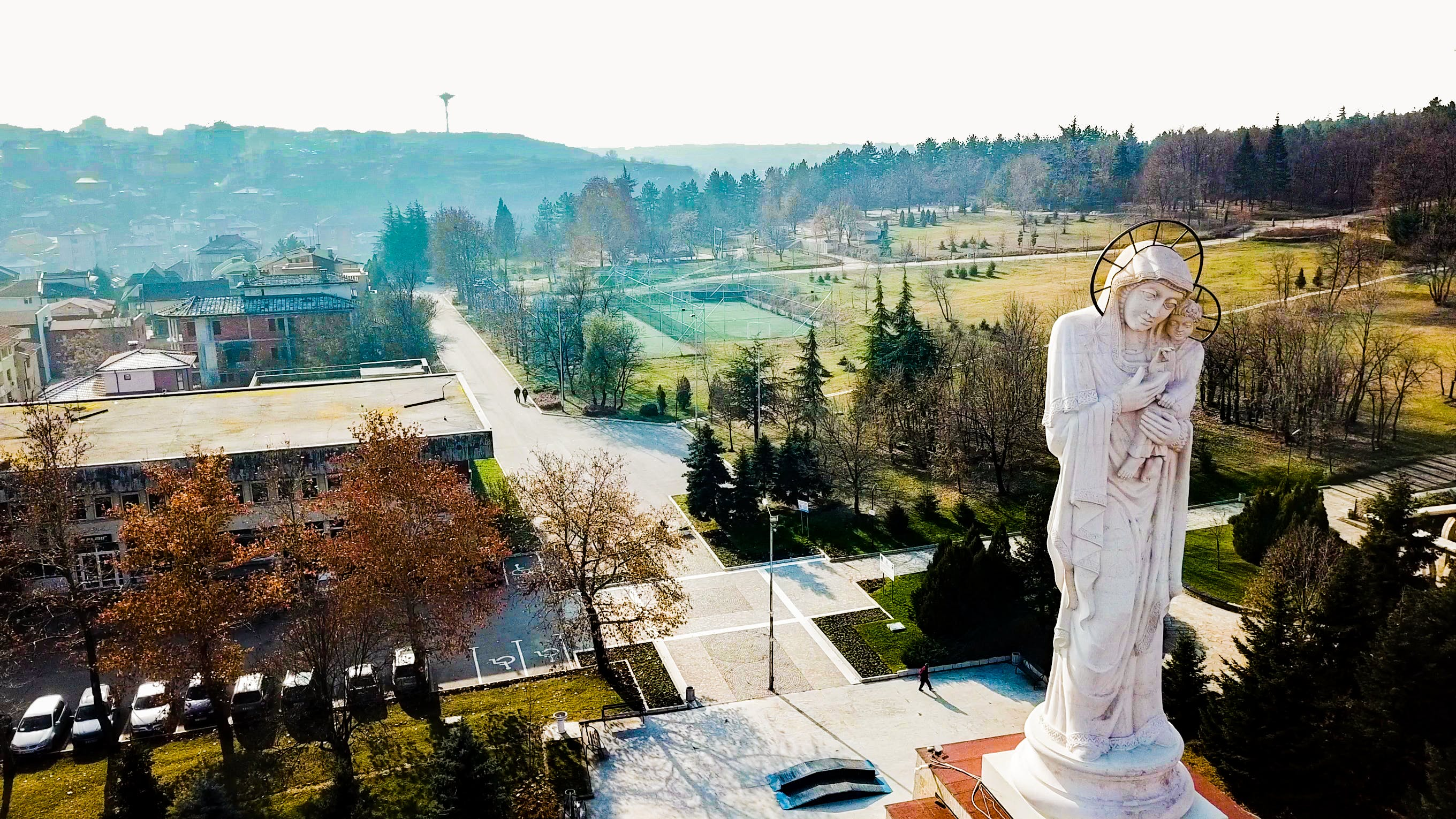 Free stock photo of drone, holy mother, monument, santa maria