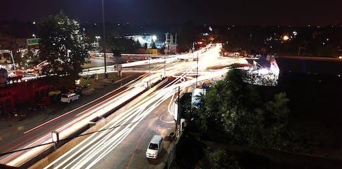 Foto d'estoc gratuïta de anar de casa a la feina, ciutat, exposició llarga, llums de la ciutat