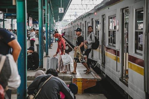 Gratis lagerfoto af tog, togstation