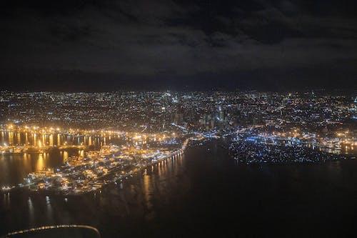 Gratis lagerfoto af byens lys, nattefotografering