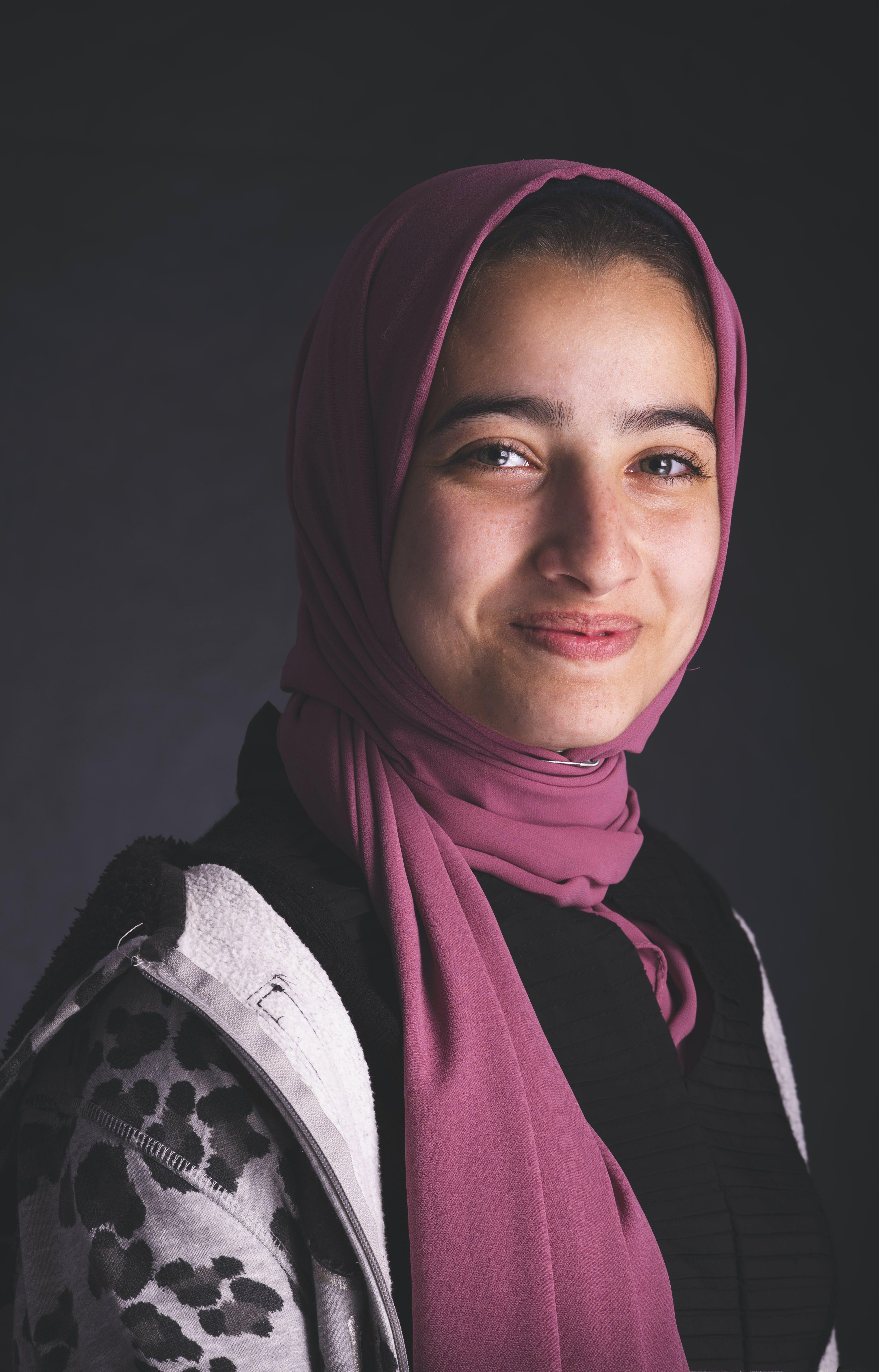Woman Wearing Pink Hijab
