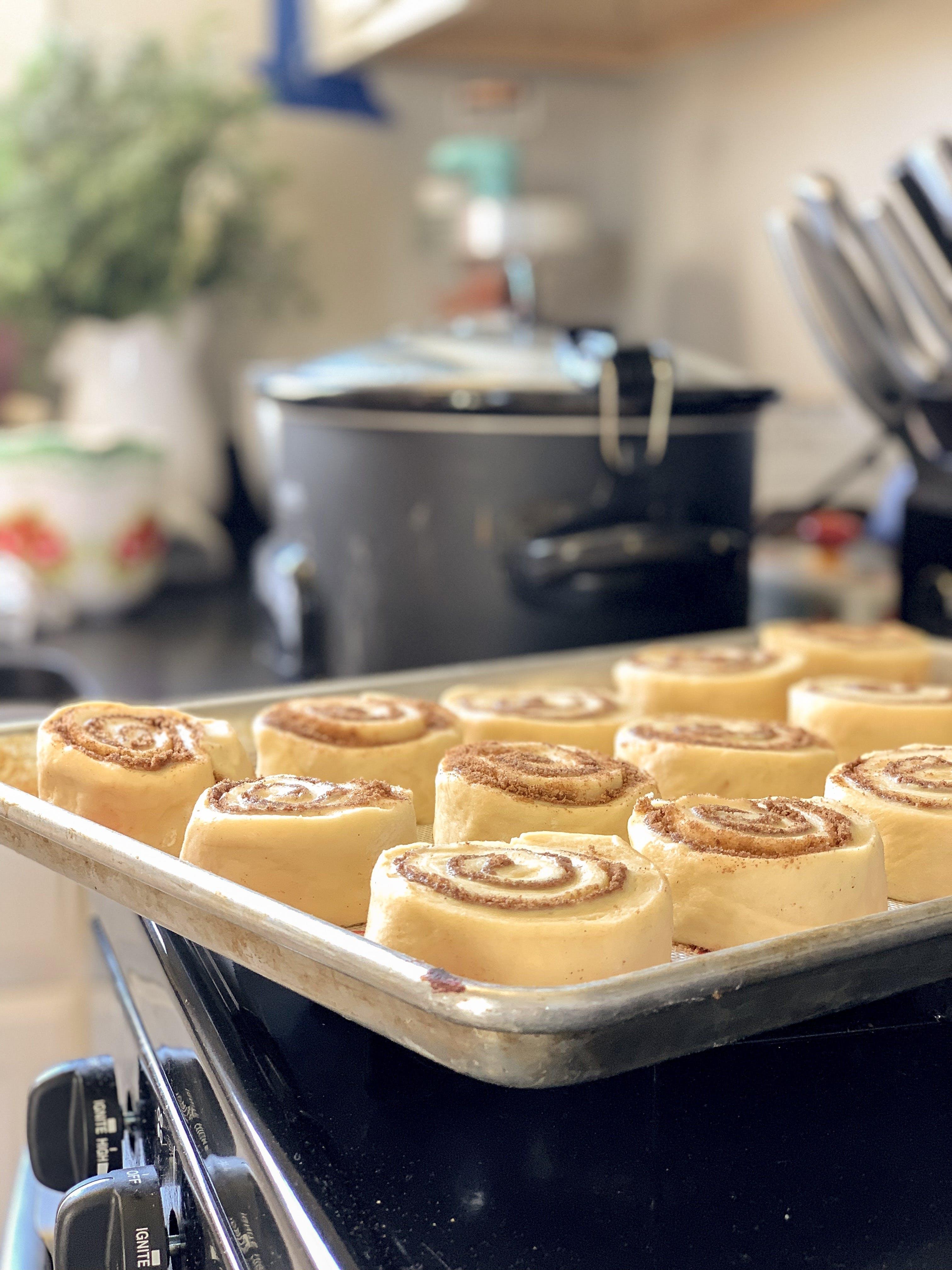 Free stock photo of baked goods, baking, bread, cinnamon