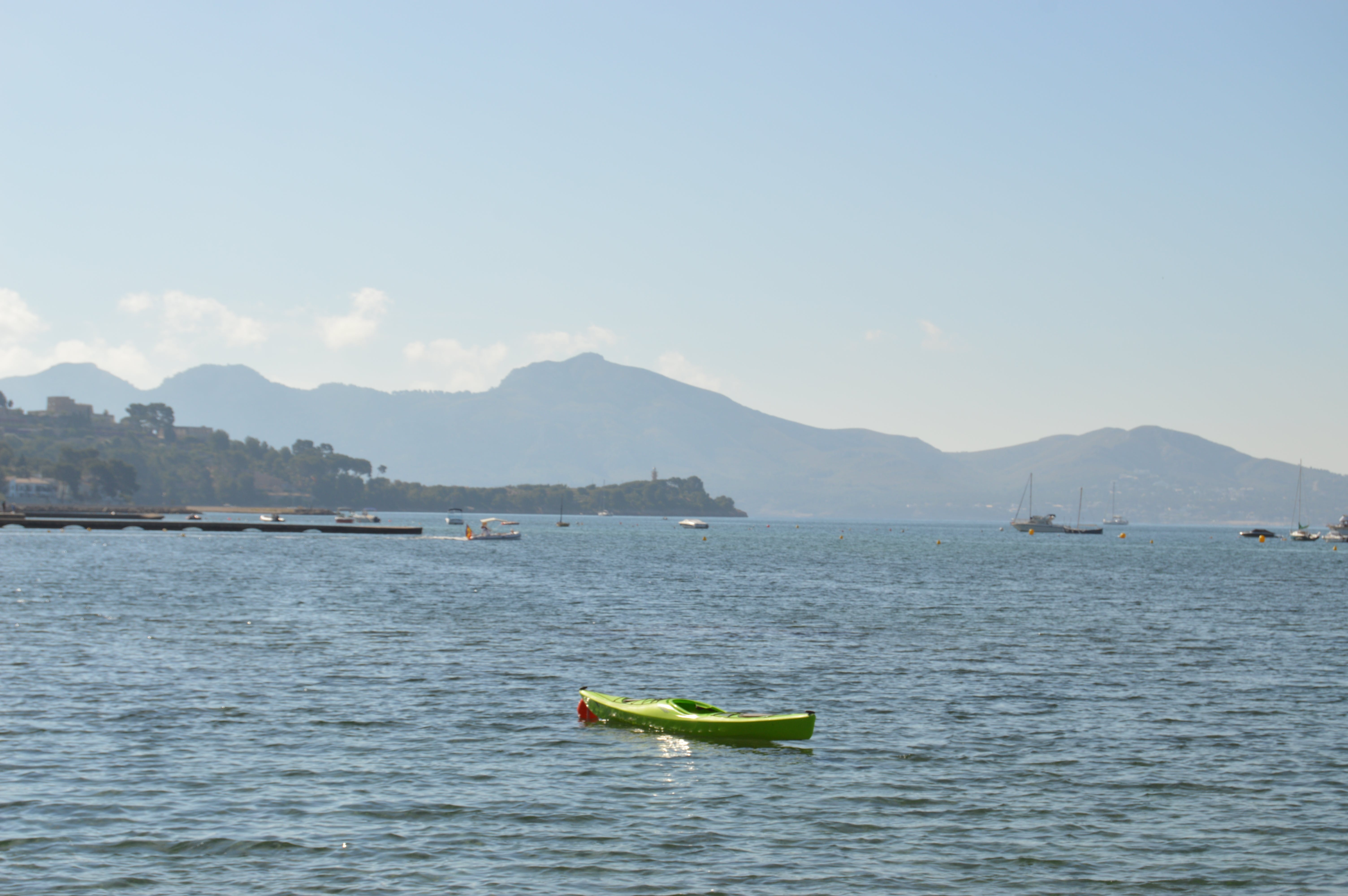 Free stock photo of blue water, by the sea, canoe, canoeing