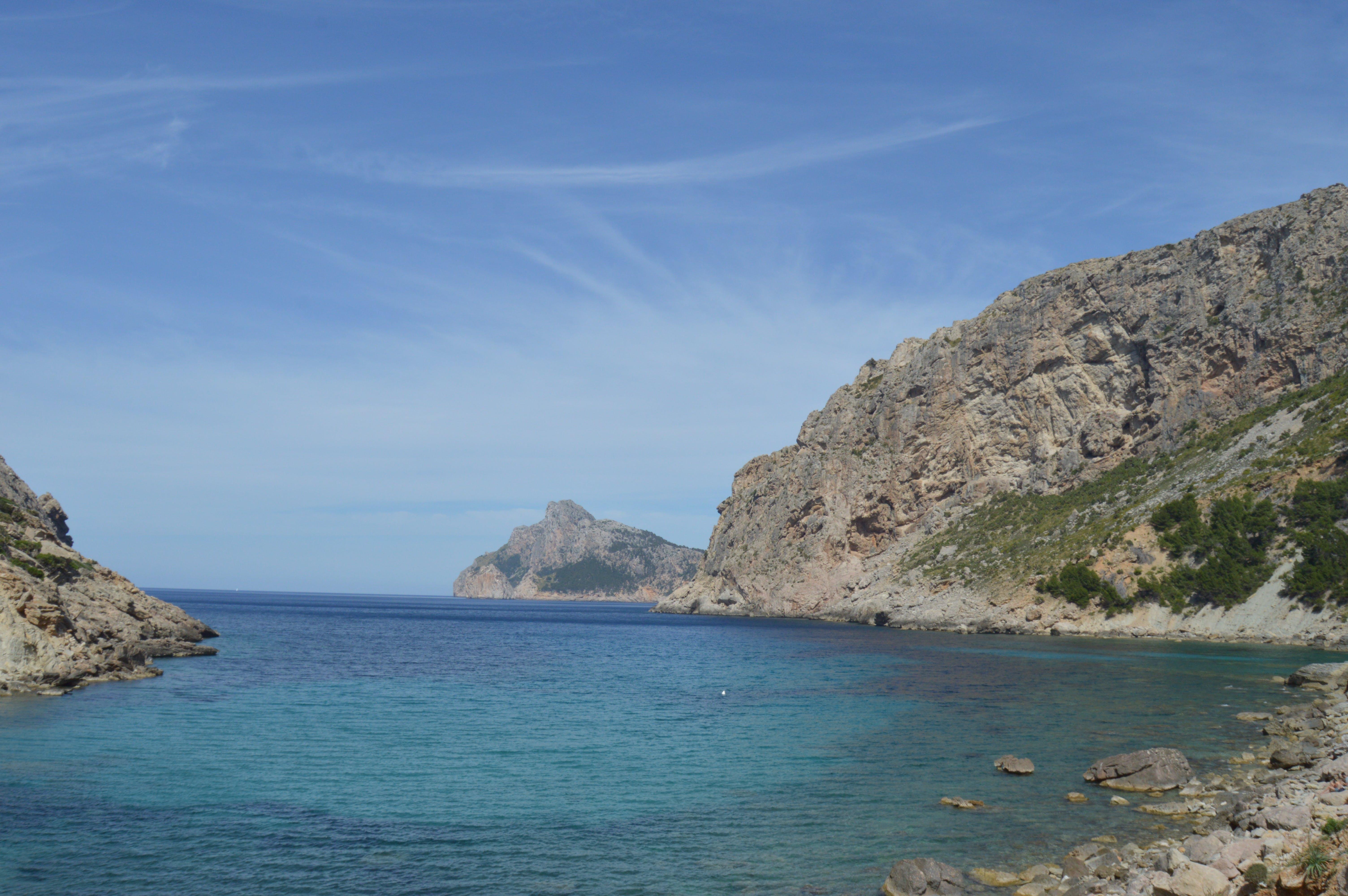 Free stock photo of blue sky, blue water, cliffs, mallorca