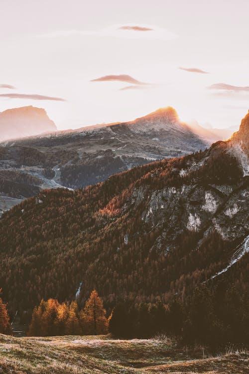 denní světlo, fotka zvysokého úhlu, geologie
