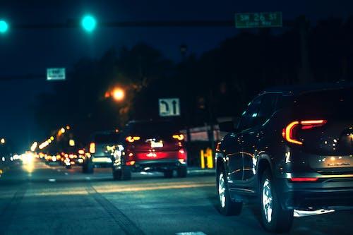 Základová fotografie zdarma na téma auta, auta v noci, Miami, noc