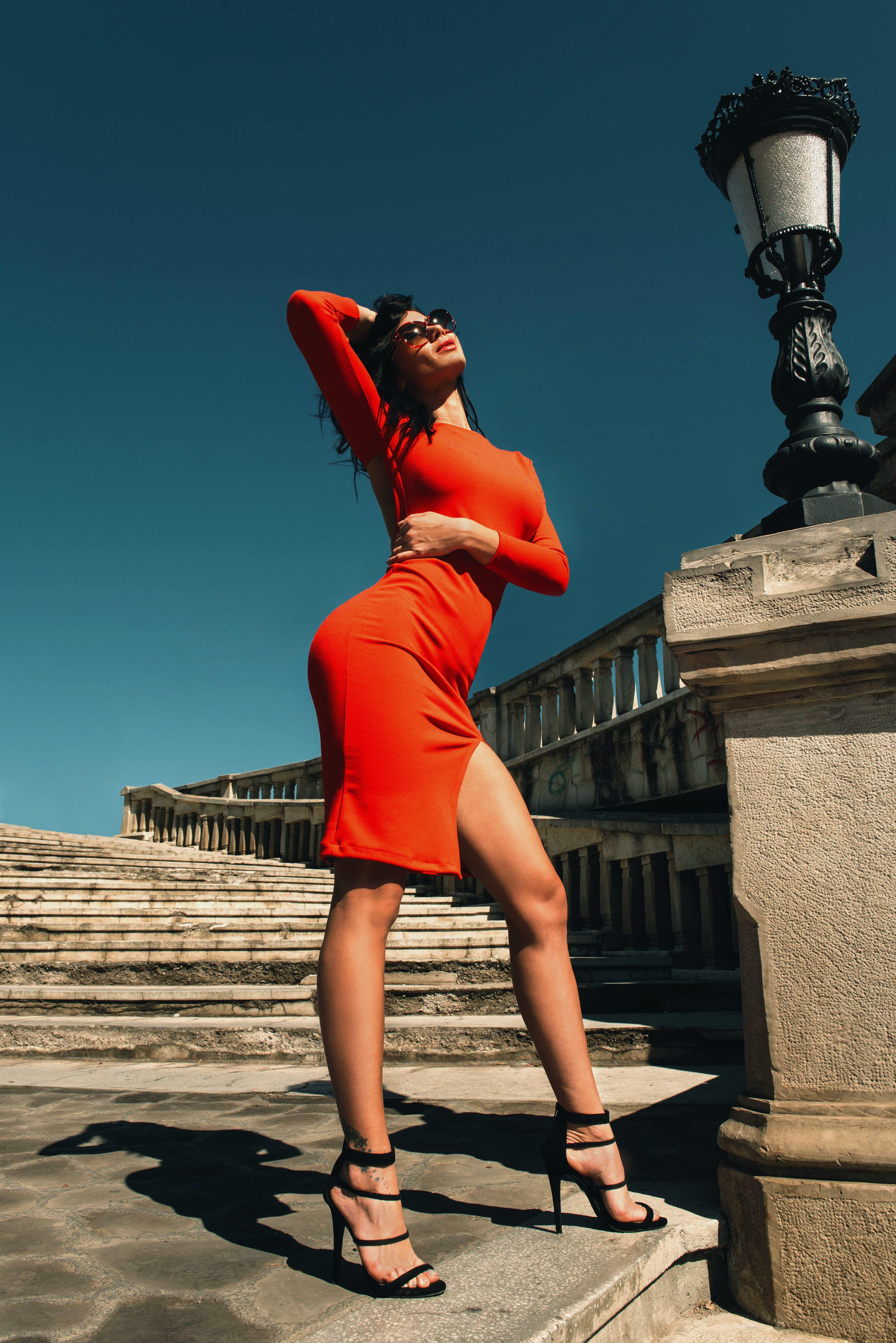 계단, 그림자, 드레스, 레저의 무료 스톡 사진
