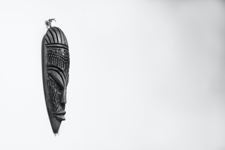 Foto profissional grátis de arte, escultura, madeira, máscara