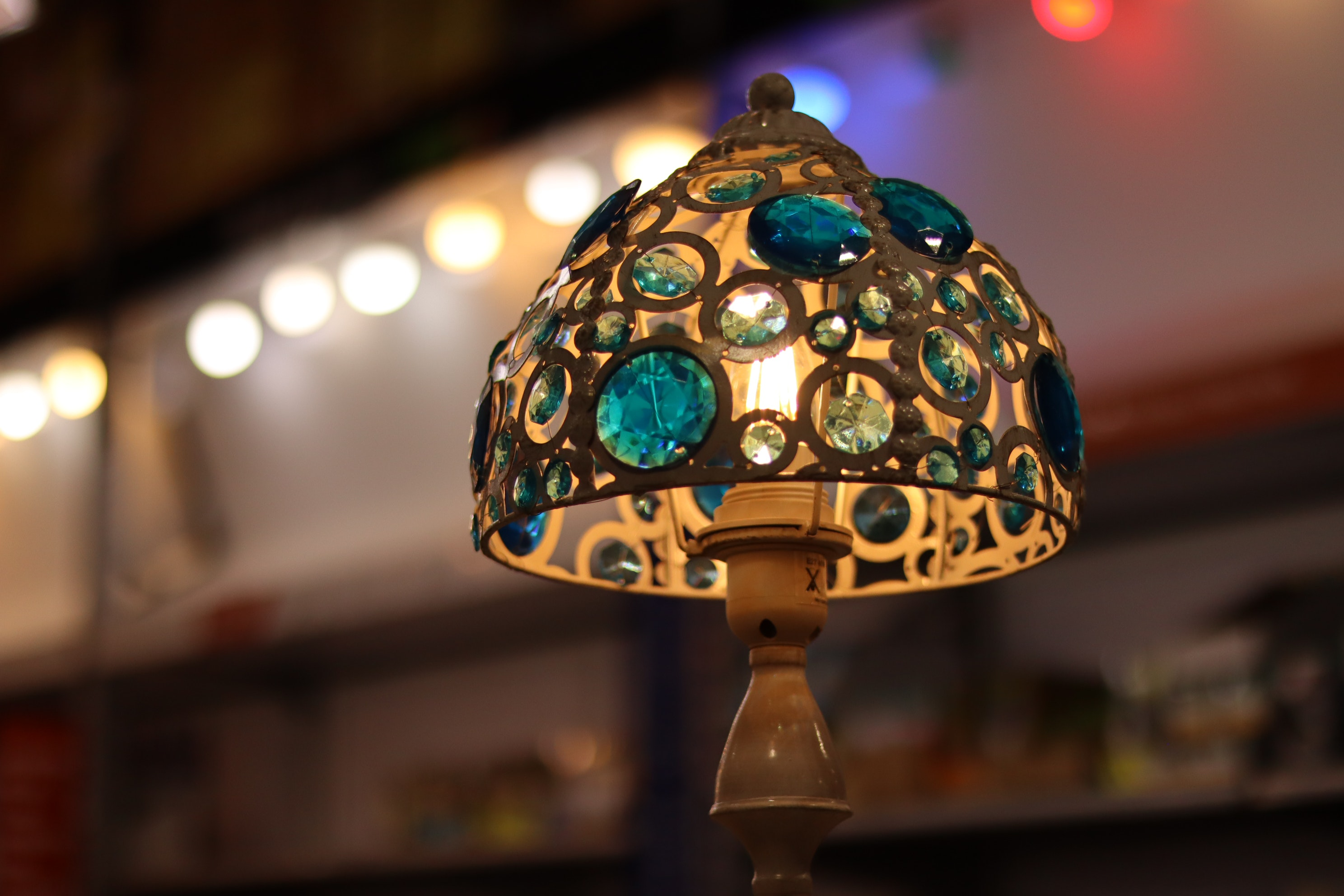 Free stock photo of desk lamp, home decor