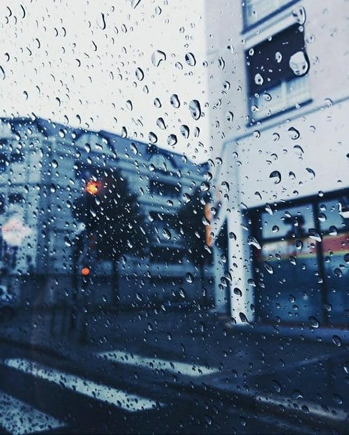 Free stock photo of blue tone, car window, city, rain