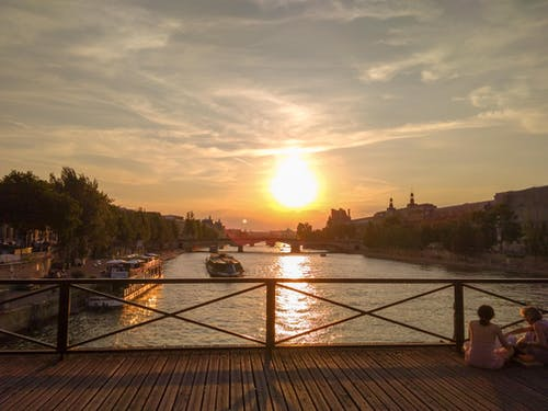 Free stock photo of boat, bridge, city, france