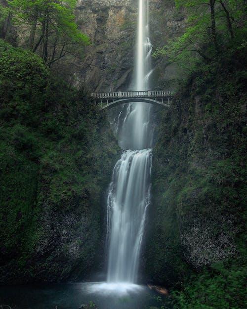 Immagine gratuita di cascate, il multnomah cade, lunga esposizione, oregon