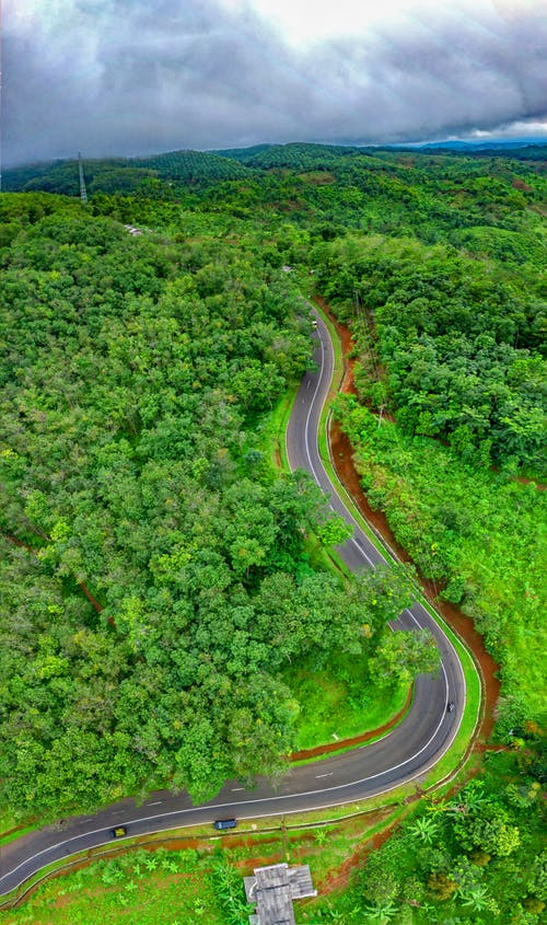 Bird's Eye View Photography Of Road