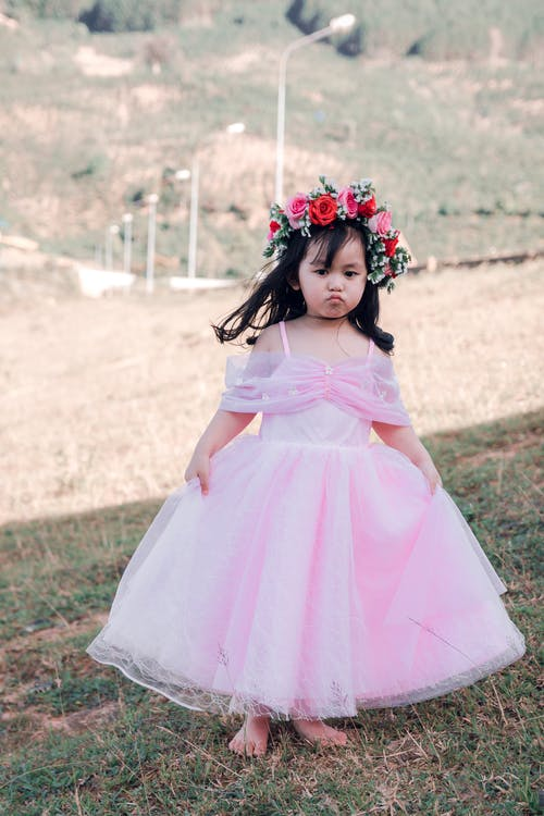Girl In Pink Gown