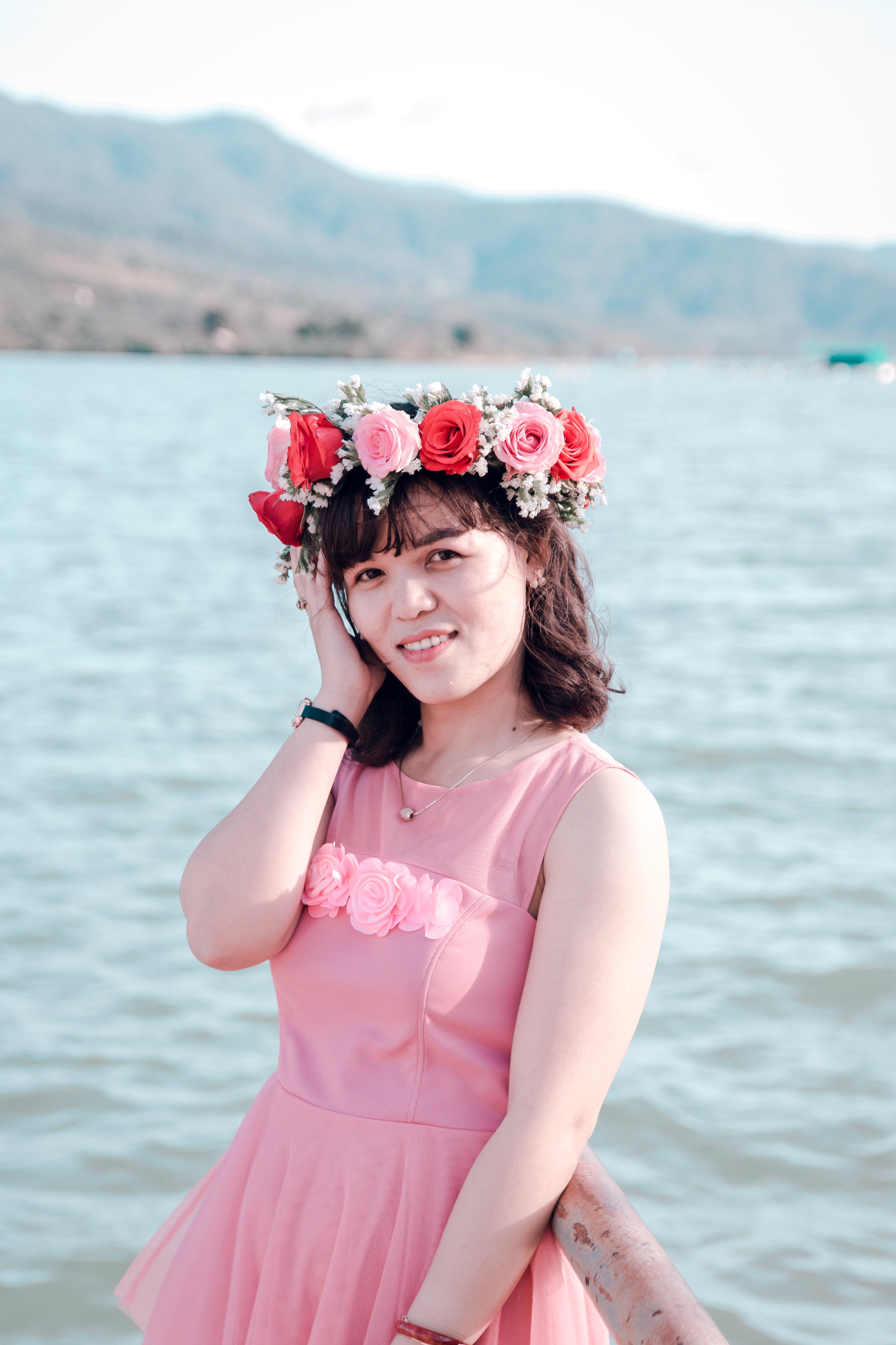 Photo of Woman Wearing Flower Crown