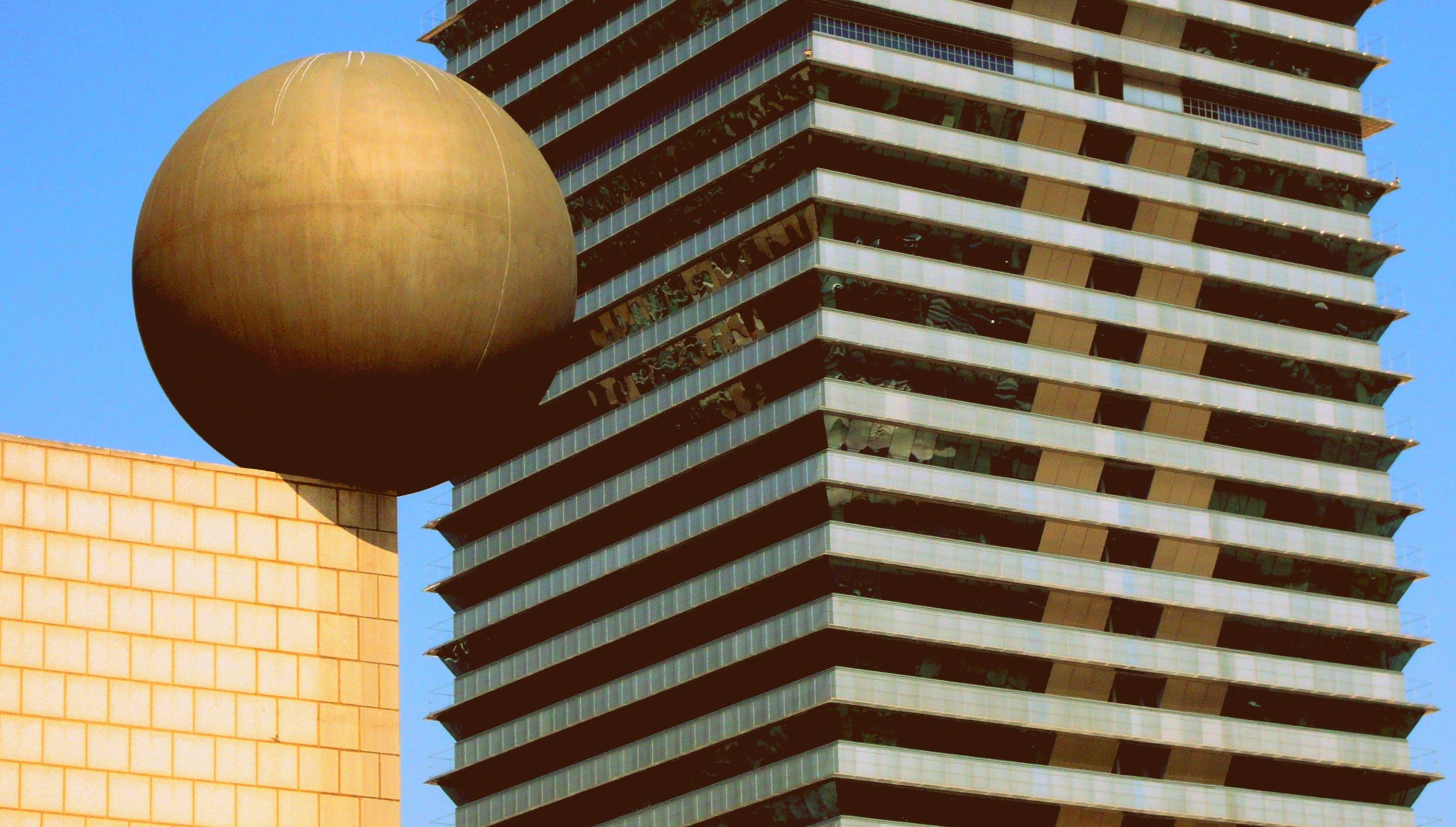 architecture, ball, barcelona