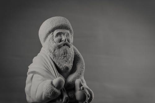Бесплатное стоковое фото с скульптура, статуэтка, черно-белый