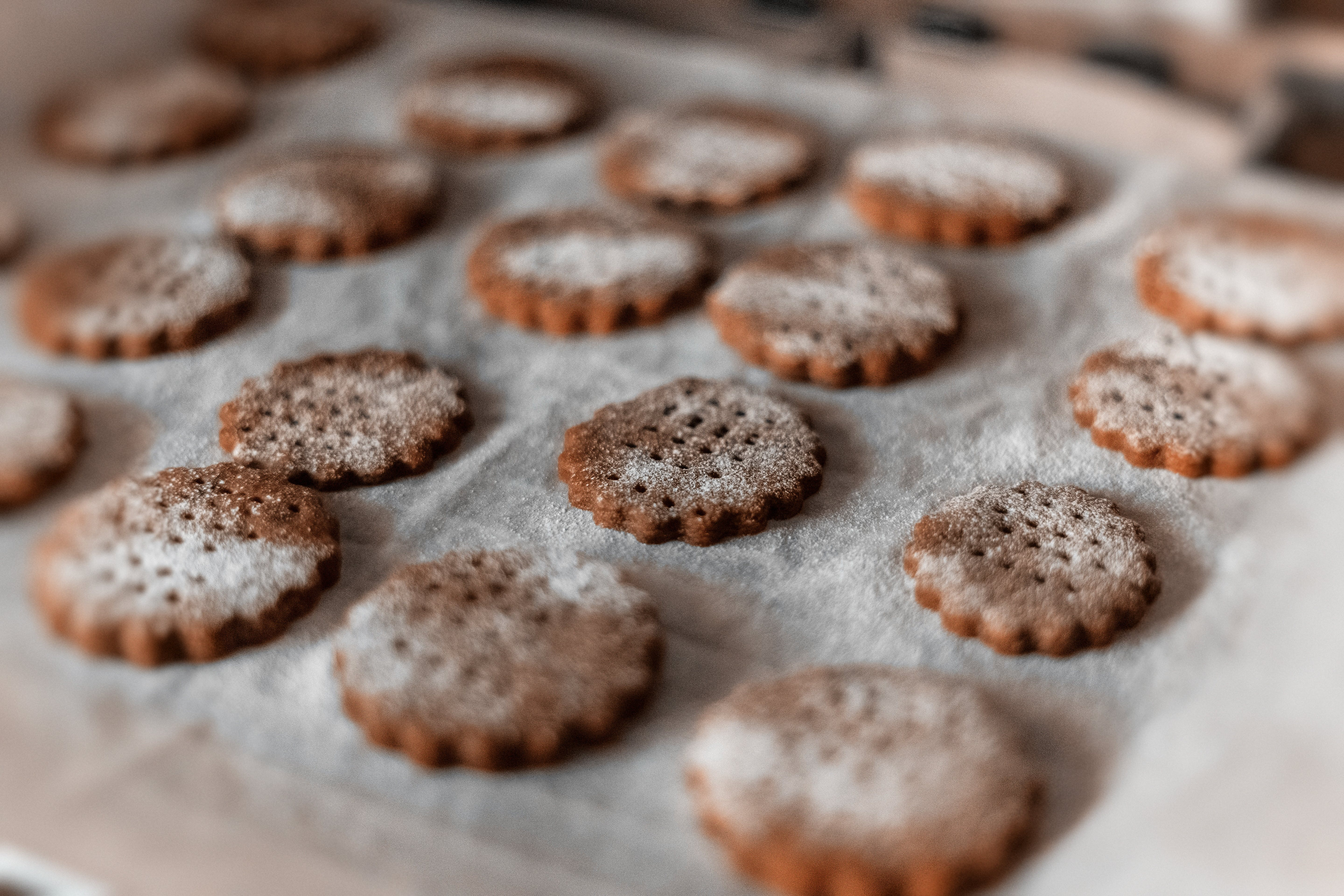 Selective Focus Photography of Cookies on Tray