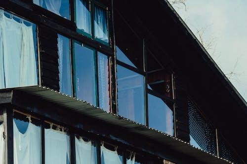Foto profissional grátis de arquitetura, artigos de vidro, cobertura, copo