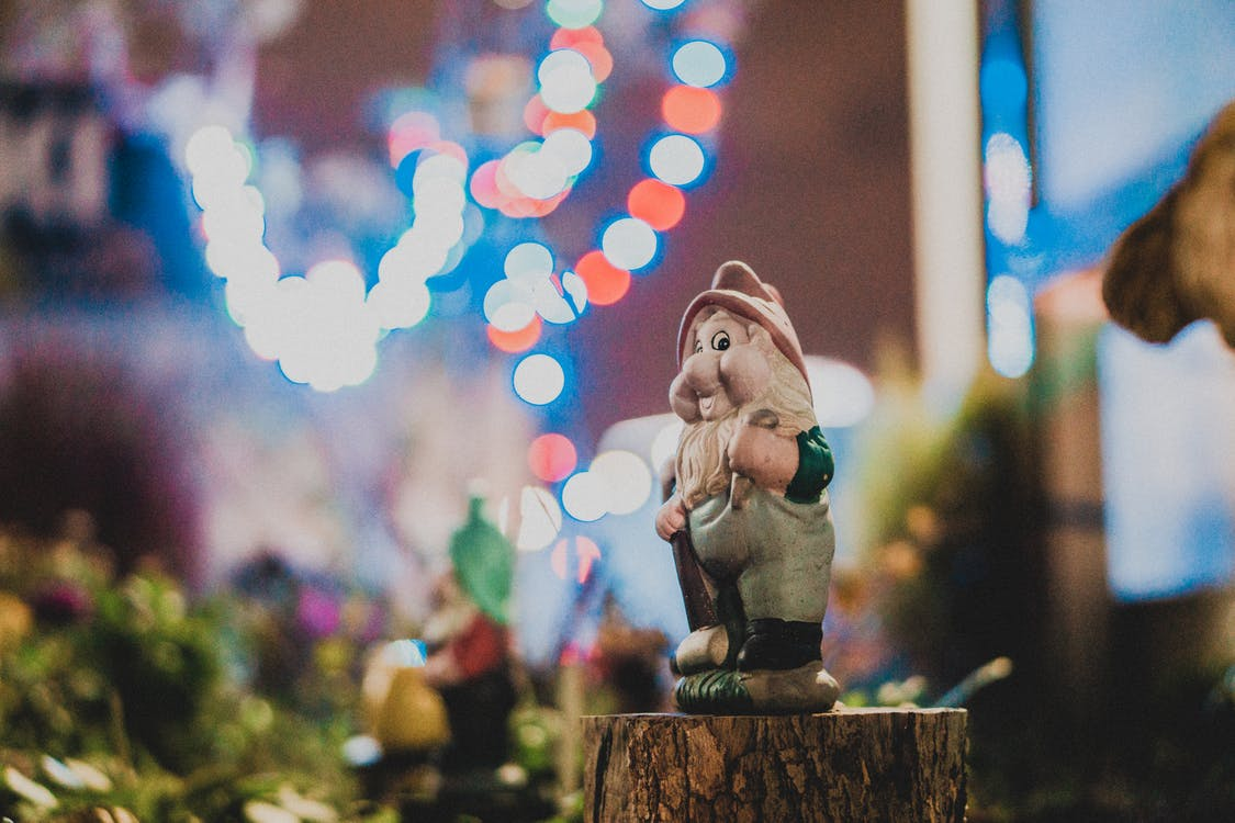 Selective Focus Photography Of Gnome Figurine