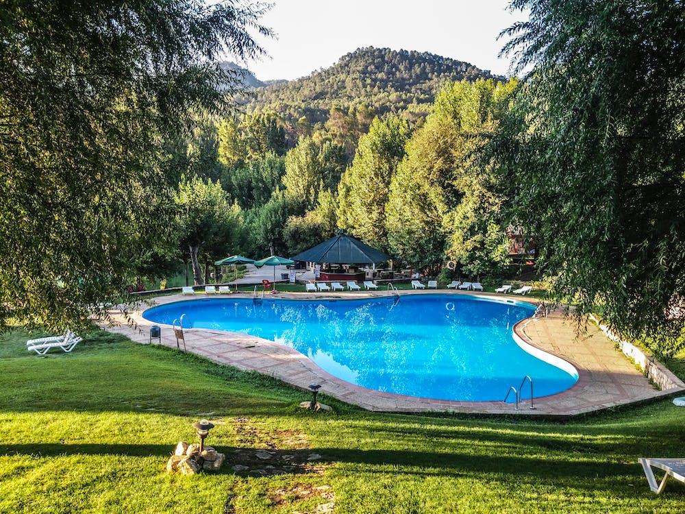 вода, гостиница, деревья